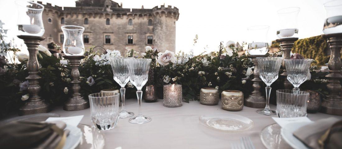 Fairy tale wedding in a Castle.